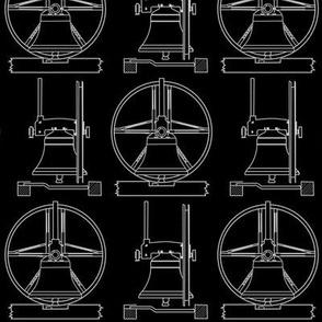 bell diagram white on black