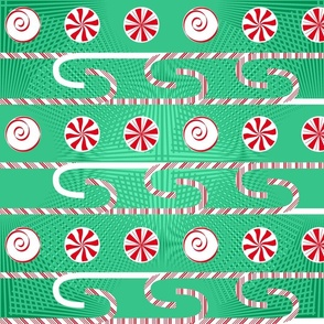 Candy Cane Green Red White