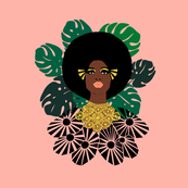 Afro Blossom Monstera //tropical monstera palm trees