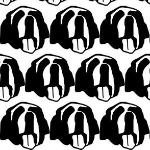 St. Bernard dog face silhouette