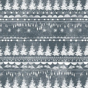 Vintage Christmas Stripe (ink)