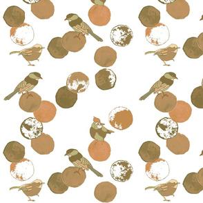 Birds & Dots Rust