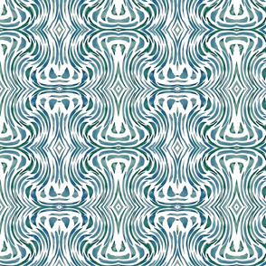 Sea Swirl in Blue Green