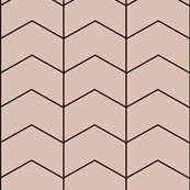 Arrows zigzags geometric blush