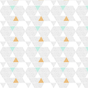 light pastel geometric triangles