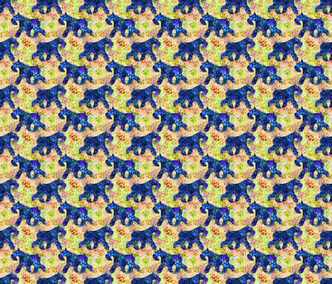 Cosmic trotting miniature schnauzer day fabric for Cosmic print fabric