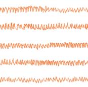crayon zigzag in orange