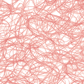 seamless crayon scribbles in coral