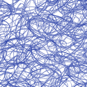 seamless crayon scribbles in morning blue
