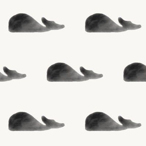 watercolor whales - monochrome whales black and white watercolor