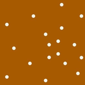 Scaterred dots - rusty orange polka dots small dots || by sunny afternoon