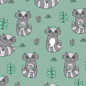 raccoon pattern BIG scale