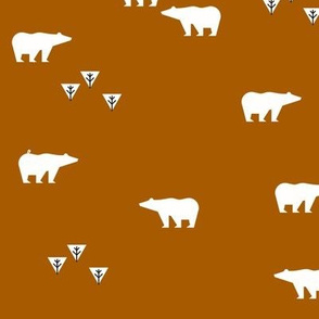 polar bears - rusty orange red || by sunny afternoon