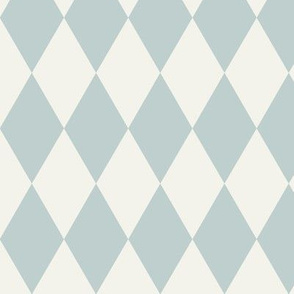 harlequin diamonds pierrot squares geometric - seafoam pale blue and ivory || by sunny afternoon