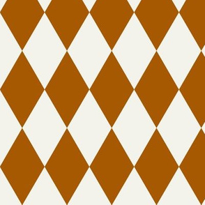 Harlequin diamonds - rusty orange and ivory    by sunny afternoon