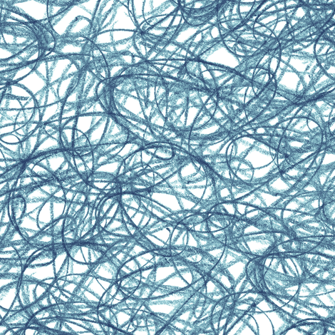 seamless crayon scribble in navy blue