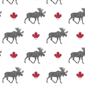 canadian moose (small scale) - grey & red