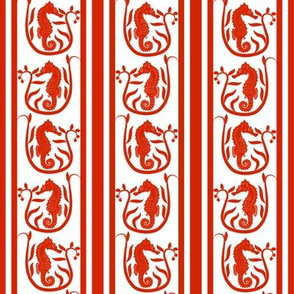 Seahorse Stripe Red