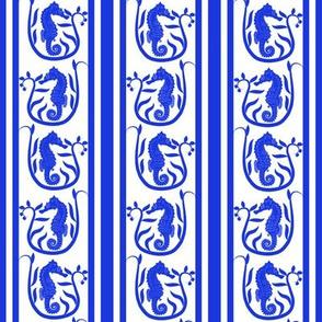 Seahorse Stripe Blue