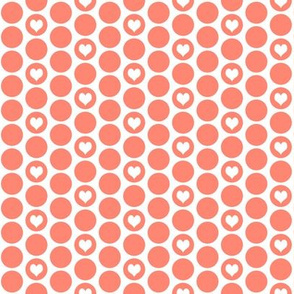 Coral heart polka dots (limited palette) by Su_G