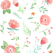 Peach Happy Floral