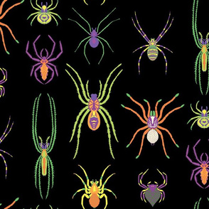 pop art spiders for halloween