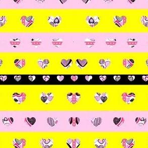 Tiny Heart Stripes