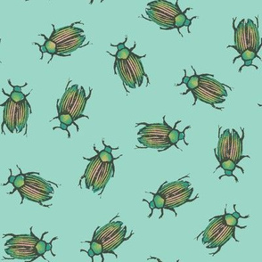 Rubberstamped beetles - oolong