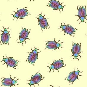 iridescent summer beetles