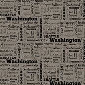 Washington cities, gray