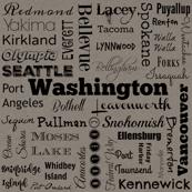 Cities of Washington, gray, small