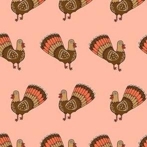 turkey // turkey trot thanksgiving autumn fall peach blush cute bird