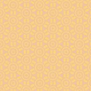 Sunny Bunny Yellow Geometric