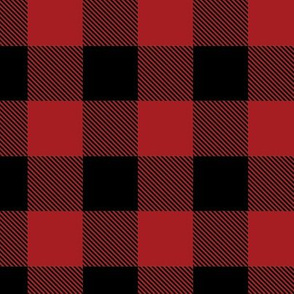Buffalo Check Flannel Plaid Red Black