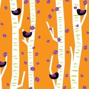 autumn black birds