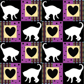 White Cats and Checkerboard Hearts