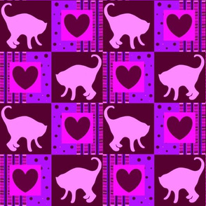 Pink Cats and Deep Red Hearts