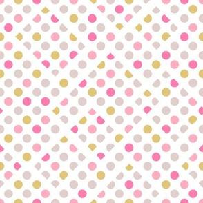 Polka dots lines and blocks