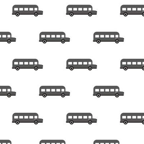 Sweet American school bus design for back to school fabric and fashion for kids car black and white