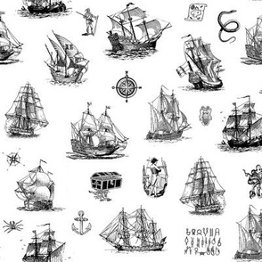 nautical - toile