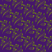 Drifting Leaves on Purple Grape