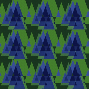 Blue Xmas Trees