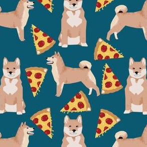 shiba inu dog cute food pizza fabric best shiba inu dog fabric for japanese shiba inu dog owners