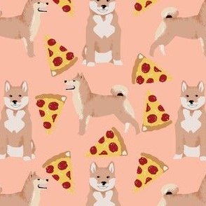 shiba inu peach pizza dog cute pizza fabric for dog owners pet lovers dog person