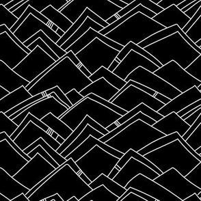 Abstract Mountains - Black & White