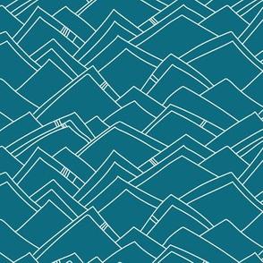Abstract Moutanins - Ocean