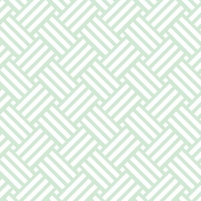 Geometric Basket Weave - Mint