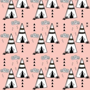 Teepee // Pink and gold