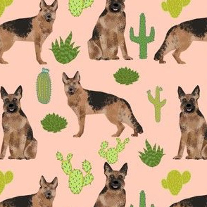 german shepherd dog cute cactus blush trendy desert plants cacti succulents dog dogs pet dog german shepherds