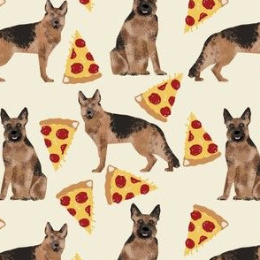 german shepherd pizza fabric food novelty